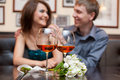 Romantic couple having dinner Stock Photography