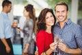 Romantic couple having drinks Royalty Free Stock Photo