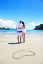 Romantic couple in love have fun on the beach Royalty Free Stock Photo
