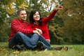 Romantic couple series Stock Photography