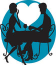 Romantic Couple Silhouette Royalty Free Stock Image