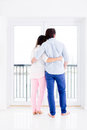 Romantic couple in their apartment Royalty Free Stock Photo