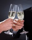 Romantic couple toasting each other Royalty Free Stock Images