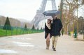 Romantic couple under the rain in paris france Stock Photo