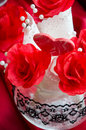 Romantic decorations valentine s day Stock Images