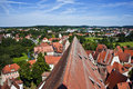 Romantic dinkelsbuehl city of late middleages and timbered hous houses Stock Photography