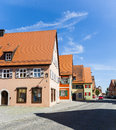 Romantic dinkelsbuehl city of late middleages and timbered houses Royalty Free Stock Photo
