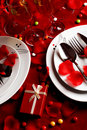Romantic Dinner Table Royalty Free Stock Photo