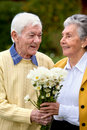 Romantic elderly couple Royalty Free Stock Photos