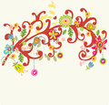 Romantic floral bright background color design Stock Images