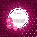 Romantic flower vintage invitation card vector background backgroundr Stock Photography