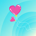 Romantic Flying Balloons Royalty Free Stock Images