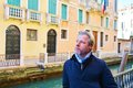 Romantic gaze and tourist in venice, Italy Royalty Free Stock Photo