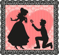 Romantic gesture Royalty Free Stock Images