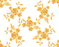 Romantic gold rose bouquet design pattern invitation template. Royalty Free Stock Photo