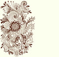 Romantic hand drawn floral background Royalty Free Stock Photo