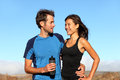 Romantic healthy athletic couple Royalty Free Stock Photos