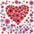 stock image of  Romantic heart with floral elements