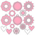 Romantic heart ornament collection Stock Photography