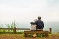 Romantic hug at pang sida national park thailand Stock Image
