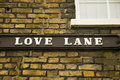 Romantic lane of love Royalty Free Stock Photography