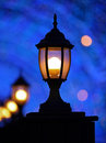 Romantic lantern, Bokeh Royalty Free Stock Image