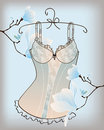 Romantic lingerie with magnolia flowers Royalty Free Stock Images