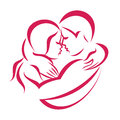 Romantic love couple icon