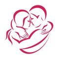 Romantic love couple icon Royalty Free Stock Photo