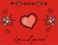 Romantic love heart background Royalty Free Stock Photo