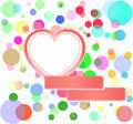 Romantic love hearts decoration bubbles Royalty Free Stock Photos