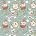 Romantic love vintage pattern Royalty Free Stock Image