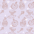 Romantic love vintage pattern Stock Photo