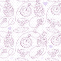 Romantic love vintage pattern Stock Photos