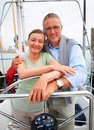 Romantic mature couple on a sea voyage Stock Photography
