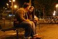 Romantic Meeting Royalty Free Stock Photo