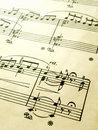 Romantic piano music score, old vintage Stock Photography