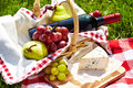 Romantic picnic basket Royalty Free Stock Photos