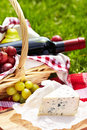 Romantic picnic basket Stock Image