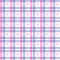 Romantic pink and blue square pattern Stock Photography