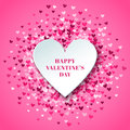 Romantic Pink Heart Background...