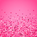 Romantic pink heart background. Vector illustration Royalty Free Stock Photo
