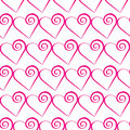 Romantic pink heart pattern. Vector illustration for holiday design. Many flying hearts on white background.