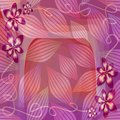 Romantic pink and purple semitransparent background with floral and leaf motif. Beautiful decoration for Valentine's day