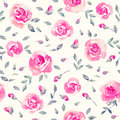 Romantic Pink roses - Floral seamless Pattern. Royalty Free Stock Photo