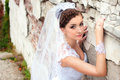 Romantic portrait of the beautiful bride Stock Image