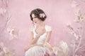 Romantic portrait of bride Royalty Free Stock Photo