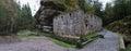 Romantic ruine of Dolsky mlyn in Ceskosaske Svycarsko Royalty Free Stock Photo