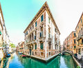 Romantic scene in the streets of Venice, Italy Royalty Free Stock Photo
