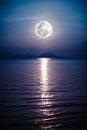 Romantic Scenic With Full Moon...